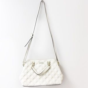 Kate Spade quilted cross body satchel white